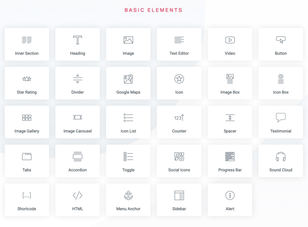 Elementor Widgets - Basic Elements | Entermedia