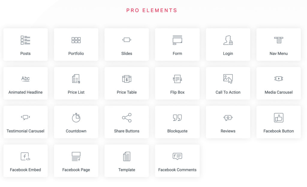 Elementor Widgets - Pro Elements | Entermedia